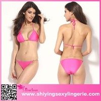 Rosy Hardware Push-up Top Low Rise Bikini Swimwear hot sexi photo image