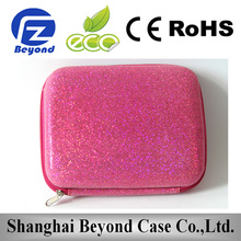 Waterproof Portable pink bling travel wash case