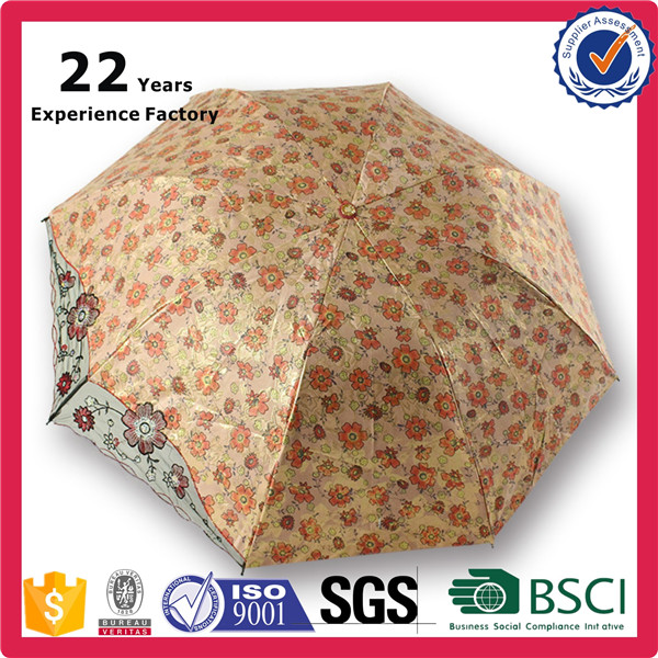 Quality Chinese Product Export to Southeast Asia Special Shape Double Layer Weather Proof Umbrella With Lace Do Embroidery