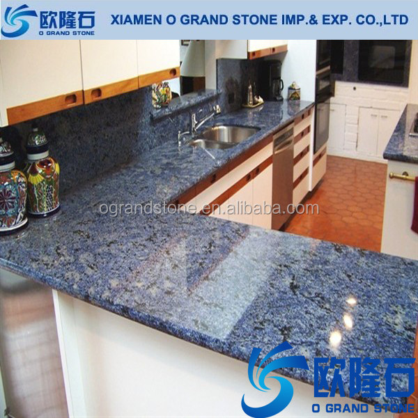 YF1813 Crystal Light Blue Artificial Quartz, Blue Quartz Stone For  Countertop