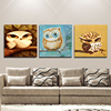 Popular Seller High Quality Cartoon Series Animal Owls Oil Painting On Canvas Hand-painted Funny Fat Owl Oil Painting For Friend