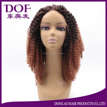 Synthetic Lace Front Wig Kinky Curly Hair 18inch Braid Hair For Women