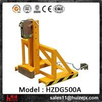 Forklift Attachment Oil Drum lifting Clamp Capacity 500kg Steel/Plastic drums