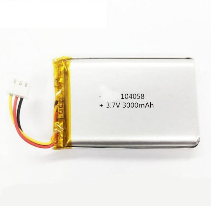 High capacity 3000mAh 3.7v 104058 lipo polymer rechargeable <strong>battery</strong>