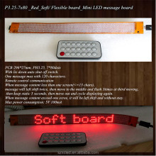 New! P3.25-7x80(296*27mm) Soft/Flexible mini LED message display panel