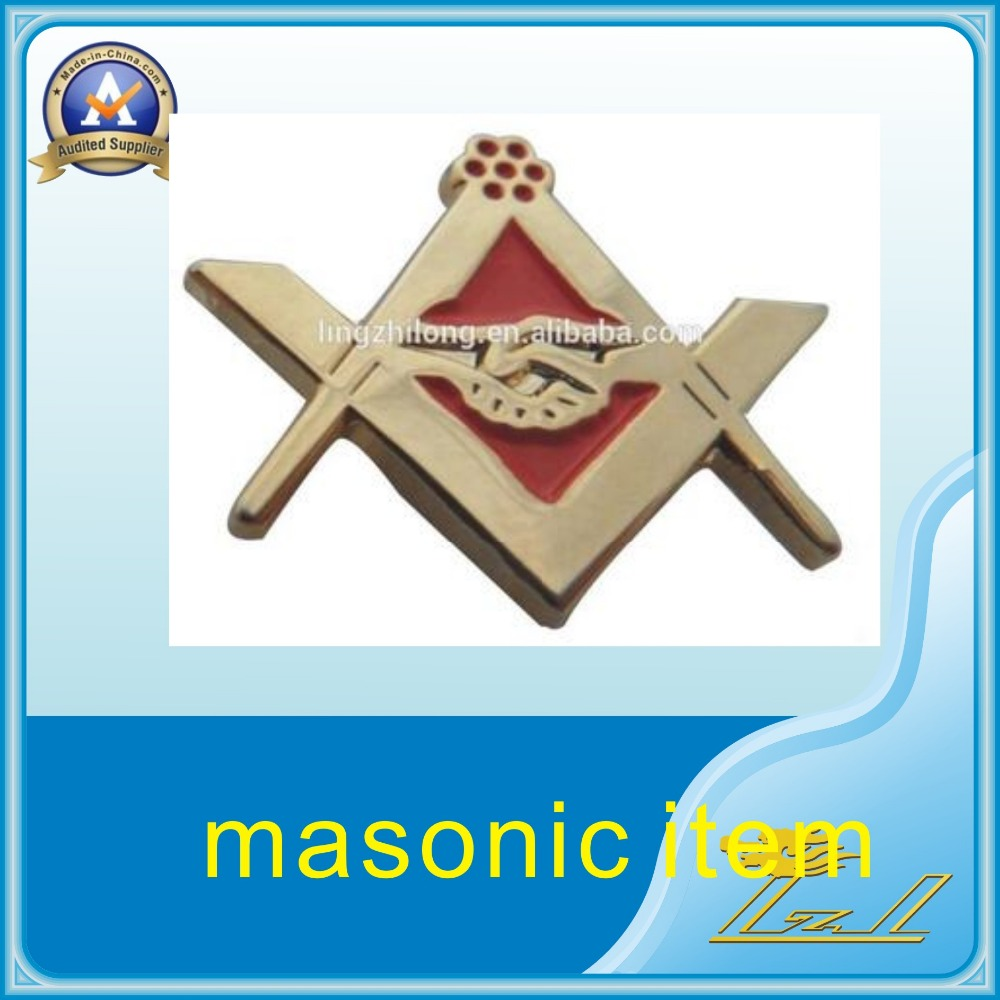Mason item masonic shake hands lapel pin masonic symbol