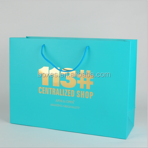 Custom Printed Luxury Retail Paper Shopping Bag, Low Cost Paper Bag, Color Paper Bag