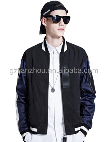Hot New Fashion Designs Men's Casual Jacket Patchwork Zipper Cool Young Blood Coat