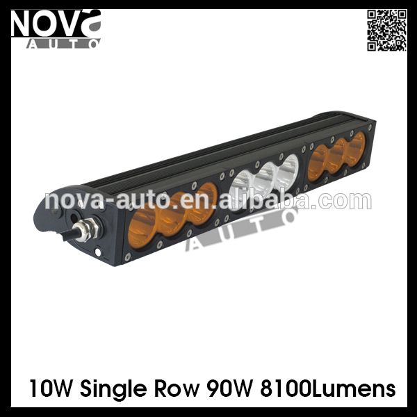 Single Row 16.5 Inch 90W Car Led Light Bar 4WD 4x4 FLOOD/SPOT Led Light Bar Amber