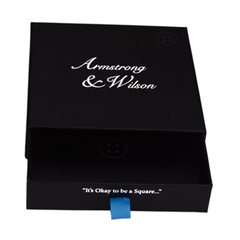Luxury Matt Black Sliding Drawer Type T Shirt Packaging Paper Box