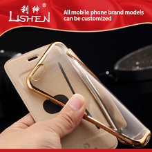 Customized Mobile Phone Filp Cover Genuine Real Leather Case for iPhone