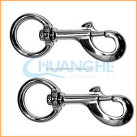China suppliers sales high quality stainless carabiner spring parachute snap hooks