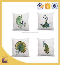 18*18 Inch Fancy Peacock Design Patterns Pillow Case Massage Cushion Cover
