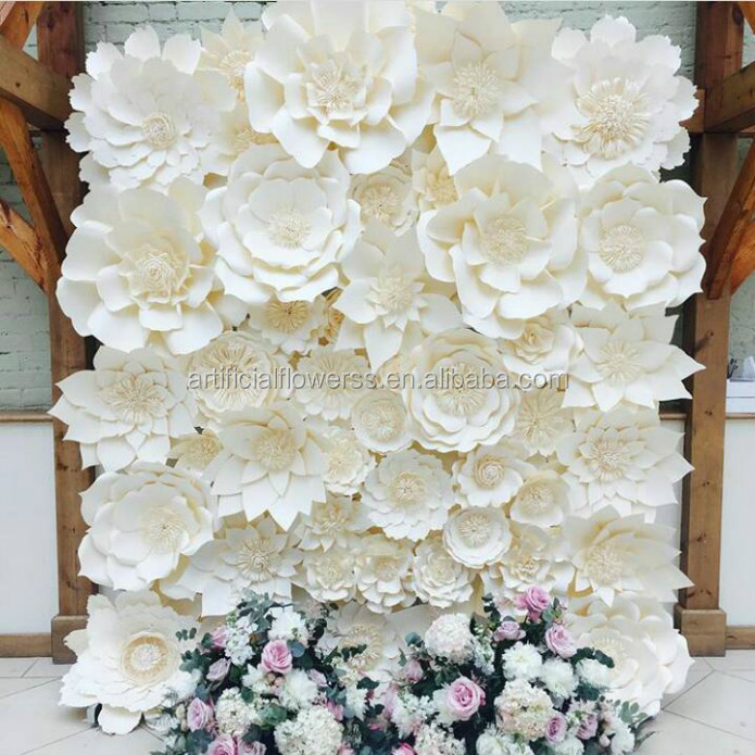 Handmade wedding backdrop large paper flowers