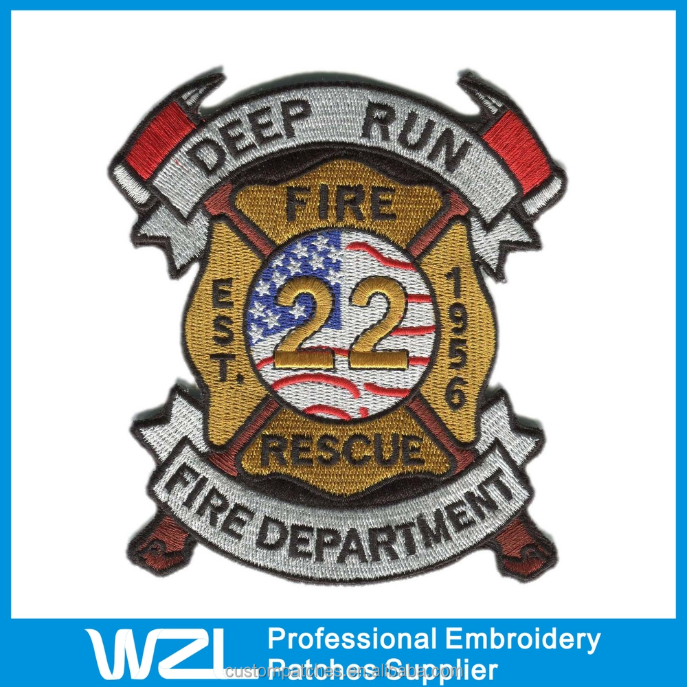 Custom embroidered patches no minimum in low price and