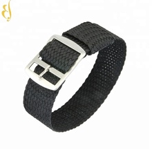 20mm stainless steel canvas nylon watch bracelet strap buckle