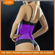 black Top selling steel boning underbust corset waist training fitness leather corset