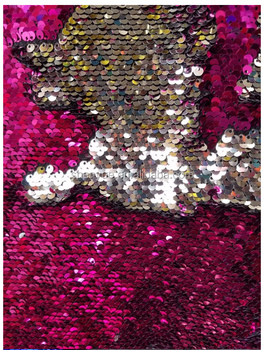 SHENYUE 5mm double sided reversible sequin TC fabric for pillows