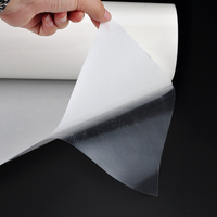 PES Milk White Hot Melt Glue Adhesive Tape Film for PVC Textile Fabric No-sewing Clothing Bonding