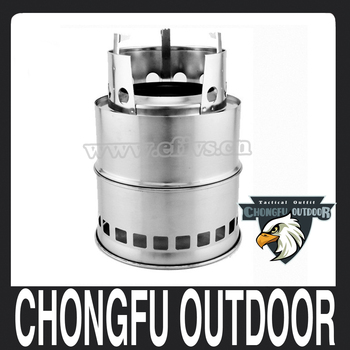 2017 new products chinese merchandise Potable Stainless Steel camping Wood Burning Stove
