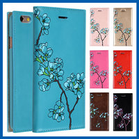 C&T Hot sale leather flip cover flower pattern for iphone 6s case