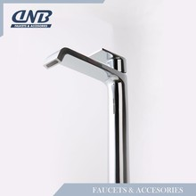 Tall Body Waterfall Bathroom Countertop Sink Faucet , Basin Waterfall Mixer Tap