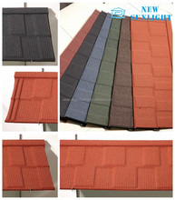 colorful stone coating galvanized corrugated metal roof tile