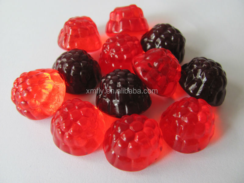 Halal kosher custom healthy food fruit shape gummy candy