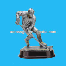 "8"" coated Ice Hockey trophy resin figures"