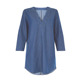 New Fashion 3/4 Sleeve Denim Tunic Dress Women Long Tunic Tops