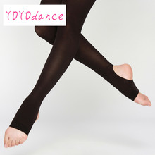 Kid Girl Ballet Stretchy Dance Stirrup Tights Soft Breathable Gymnastic Stirrup Pantyhose Children Cotton Spandex Collant