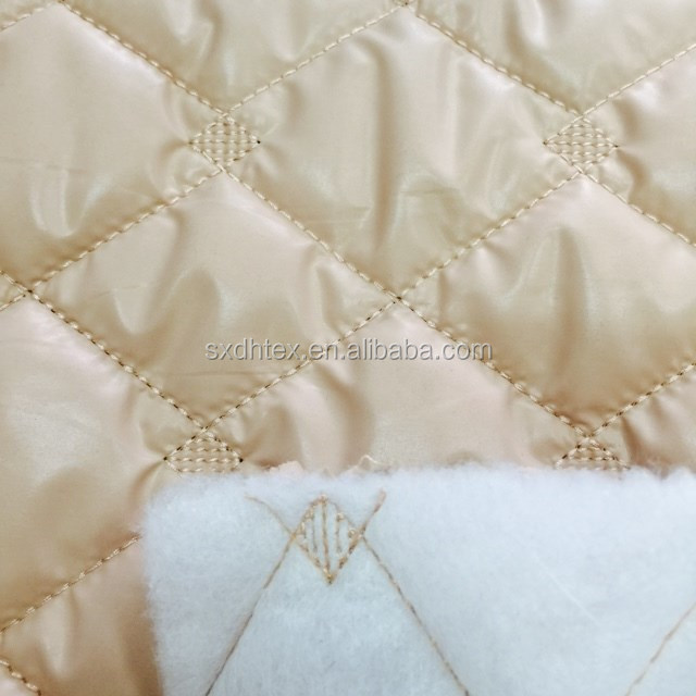 polyester pongee padding embroidered quilting fabric