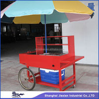 Portable JX-HS150 .mobile moving food cart for sale