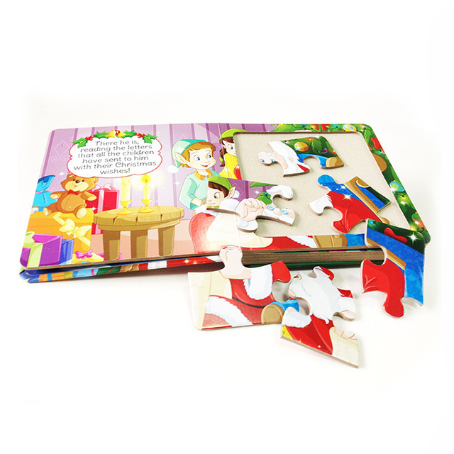 High Quality Children Puzzle Books For Kids board book printing