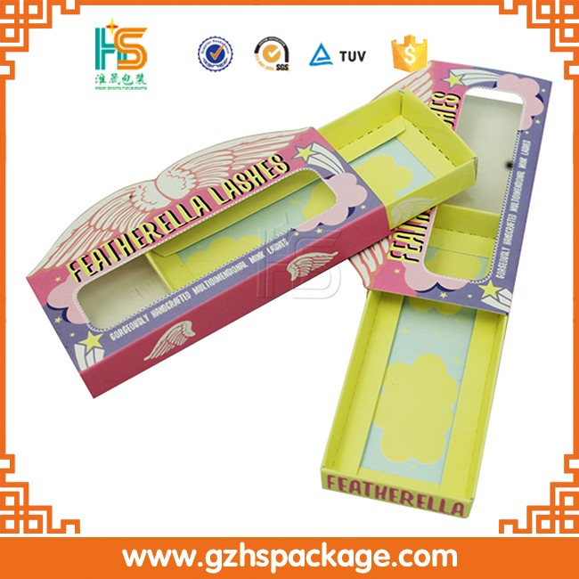 Best False Eyelashes Packaging Paper Box,Cosmetic Box With Clear Window
