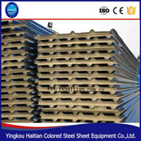 Easy installation noise reduction sandwich panel PU sandwich panel for wholesales
