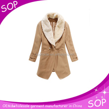 China manufacturer fur jacket outwear women coat and skirt model
