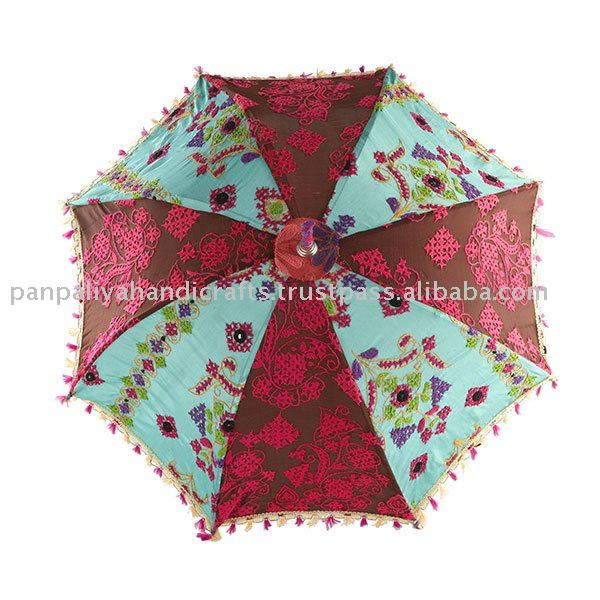 Royal Colorful Umbrellas-Parasols in tribal Hand embroidered from India