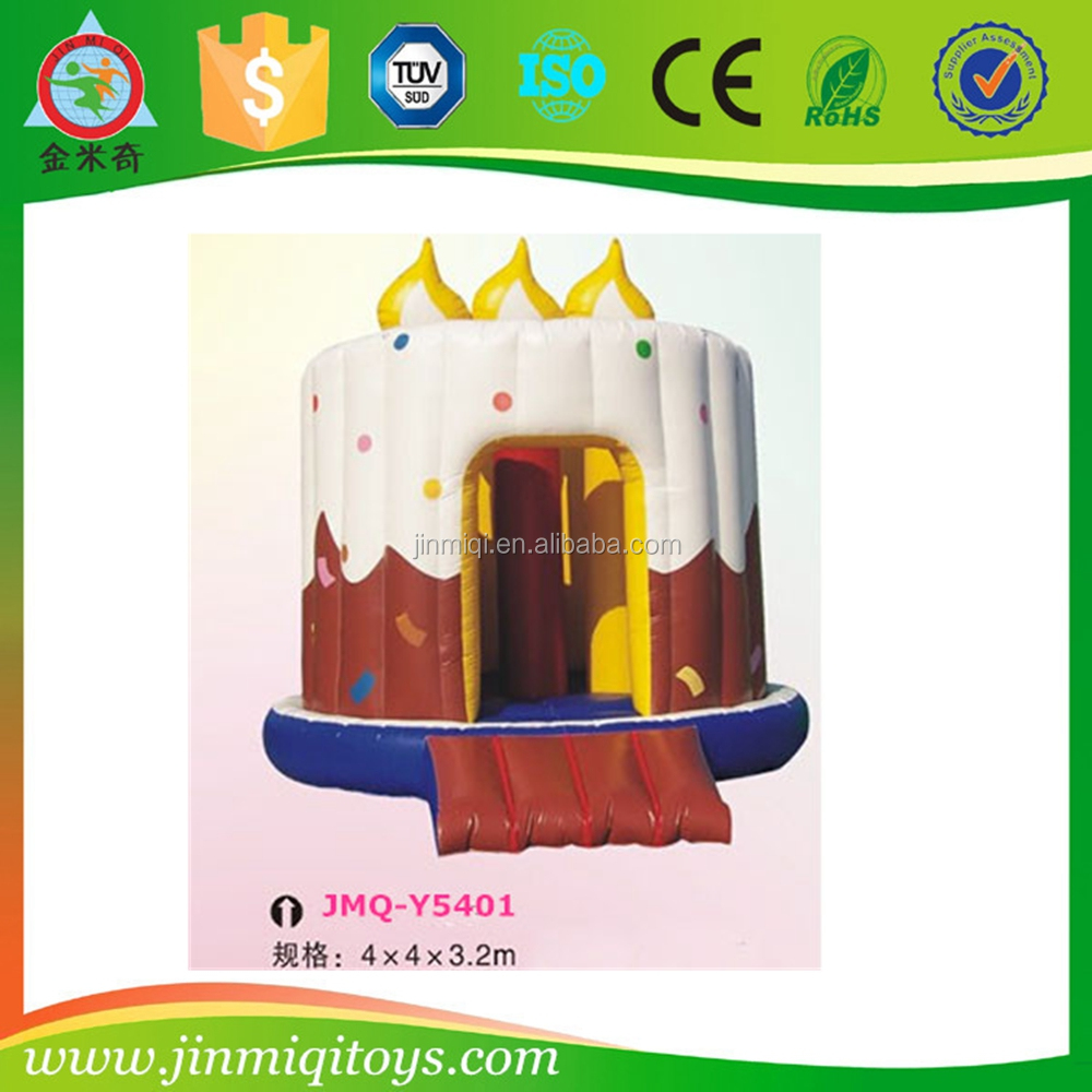 Inflatable birthday cake, inflatable bounce house, toy birthday cake