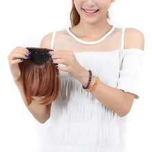 New Stock 100 natural human hair bangs/human hair fringe/clip natural hair bangs