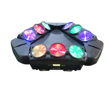 LED 9 LED unlimited rotated spider light rgbw moving head dmx stage lighting,Disco,Dj ,Bar,party construction
