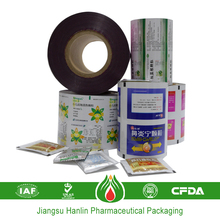 Pharmaceutical roll laminated composited soft plastic film