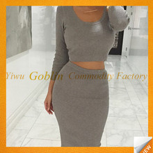 GBIY-554 Women Cocktail Party Two Piece Bodycon Dress, Party Gambar Sex Dress, Evening Dress Women 2017