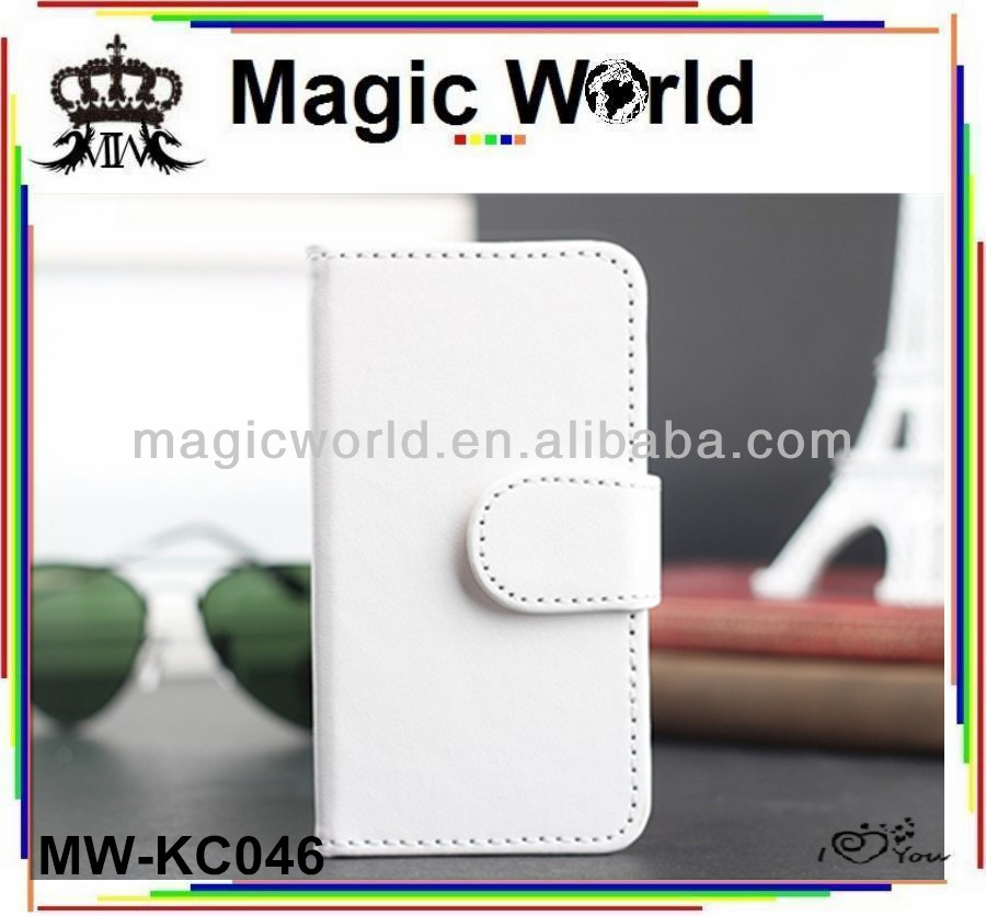 Wallet leather case for i phone 5