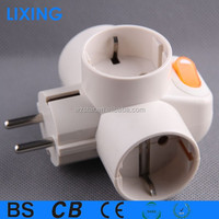 Universal power adapter and plug/ adapter with switch
