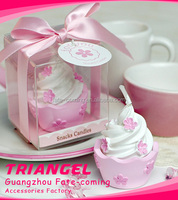 Top Quality Cake Wedding Favor Candle For Shower Favor
