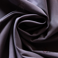PU Coated Grey Color Dyed Plain Polyester Peach Skin Fabric/Cloth