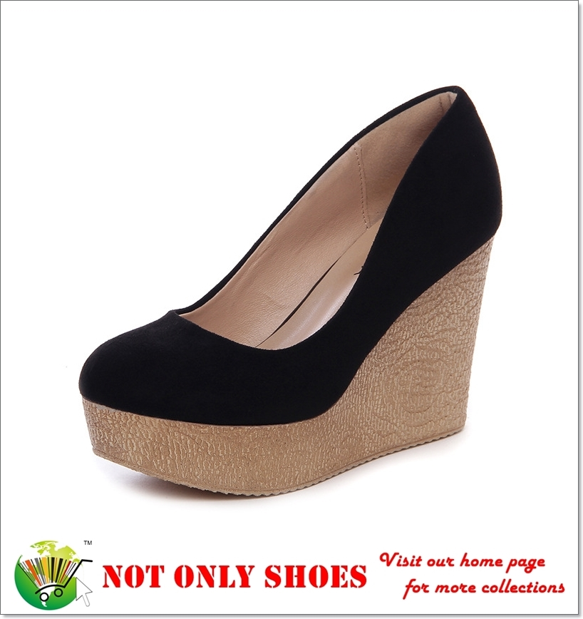 For Ladies In Stock Fashionable Smart Casual PU Made Platform Shoes