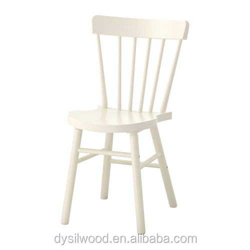Beech wood type and modern style white windsor chair for dining room