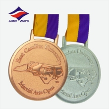 Bronze Medallion custom medals 65mm blank medals plating gold silver bronze stickers